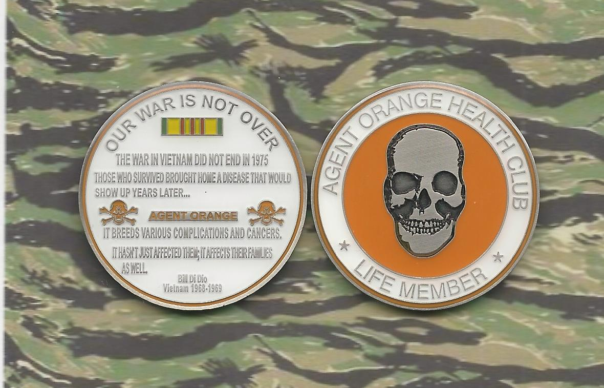 AGENT ORANGE HEALTH CLUB LIFE MEMBER CHALLENGE COINS