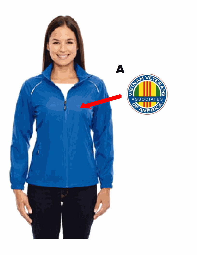 AVVA LADIES JACKET WITH EAGLE PATCH
